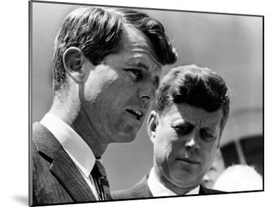 Pres John Kennedy and Attorney General Robert Kennedy at Ceremonies Honoring African Americans--Mounted Photo
