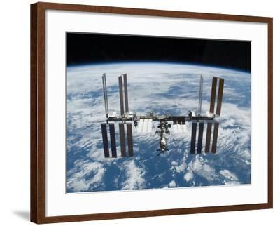 International Space Station in 2009--Framed Photo