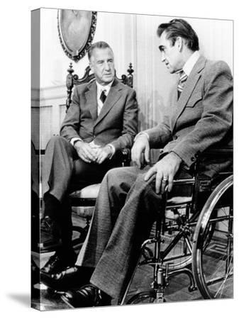 Vice President Spiro Agnew Visits with Right Wing Segregationist Democratic Governor George Wallace--Stretched Canvas Print