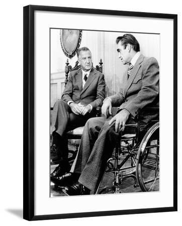 Vice President Spiro Agnew Visits with Right Wing Segregationist Democratic Governor George Wallace--Framed Photo