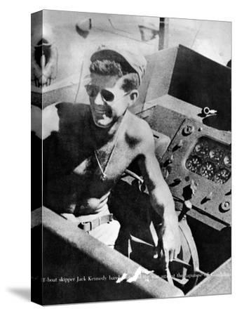 Lt John Kennedy in the Pacific During World War Ii--Stretched Canvas Print