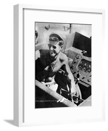 Lt John Kennedy in the Pacific During World War Ii--Framed Photo