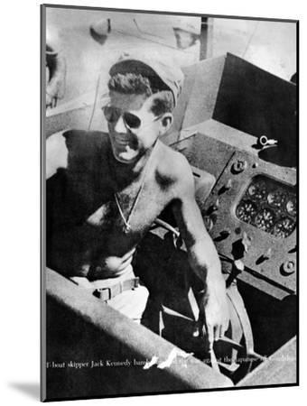 Lt John Kennedy in the Pacific During World War Ii--Mounted Photo