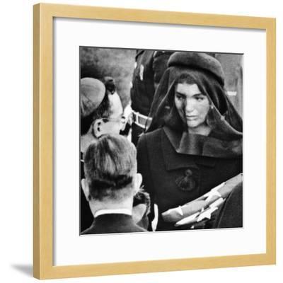 Jacqueline Kennedy at President John Kennedy's Funeral--Framed Photo