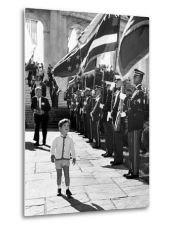 Young John Kennedy Jr, the President's Son, 'Inspects' the Honor Guard--Metal Print