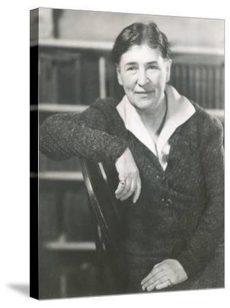 Willa Cather at the Time She Wrote Lucy Gayheart, Photo by Nicholas Muray, ca 1935--Stretched Canvas Print