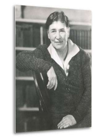Willa Cather at the Time She Wrote Lucy Gayheart, Photo by Nicholas Muray, ca 1935--Metal Print