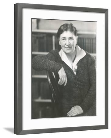 Willa Cather at the Time She Wrote Lucy Gayheart, Photo by Nicholas Muray, ca 1935--Framed Photo