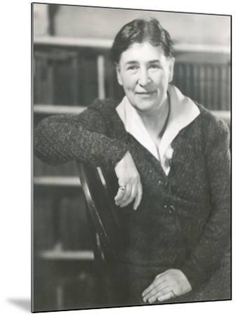 Willa Cather at the Time She Wrote Lucy Gayheart, Photo by Nicholas Muray, ca 1935--Mounted Photo