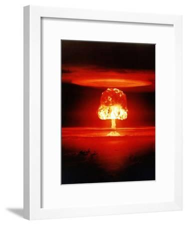 The Romero Shot, Was a Hydrogen Bomb That Yielded 11 Megatons of Energy--Framed Photo