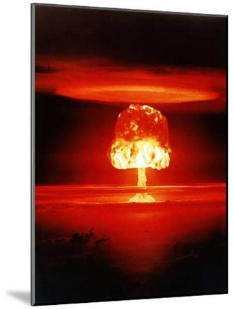 The Romero Shot, Was a Hydrogen Bomb That Yielded 11 Megatons of Energy--Mounted Photo