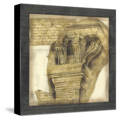 Antique Capitals II-Jennifer Goldberger-Stretched Canvas Print