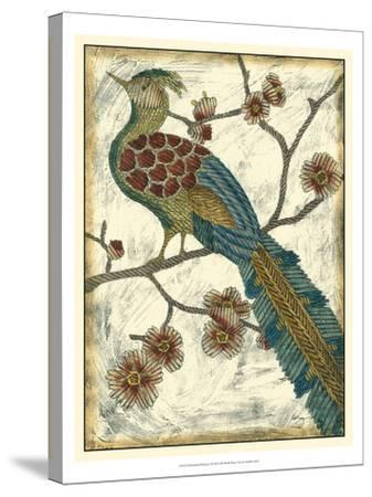 Embroidered Pheasant II-Chariklia Zarris-Stretched Canvas Print