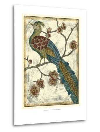 Embroidered Pheasant II-Chariklia Zarris-Metal Print