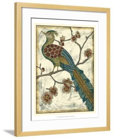 Embroidered Pheasant II-Chariklia Zarris-Framed Art Print