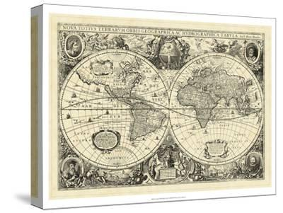 Vintage World Map--Stretched Canvas Print