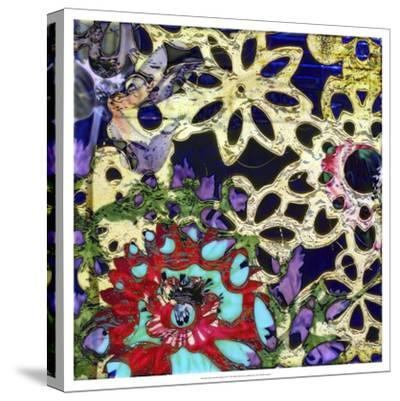 Bejeweled Woodblock IV-Ricki Mountain-Stretched Canvas Print