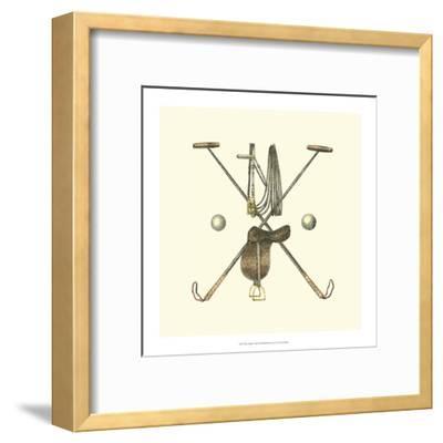 Polo Saddle-Vision Studio-Framed Art Print