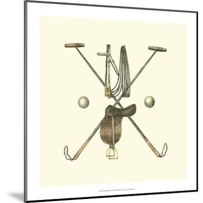 Polo Saddle-Vision Studio-Mounted Art Print