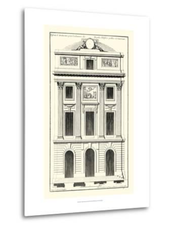 Crackle B&W Architectural Facade II-Jean Deneufforge-Metal Print