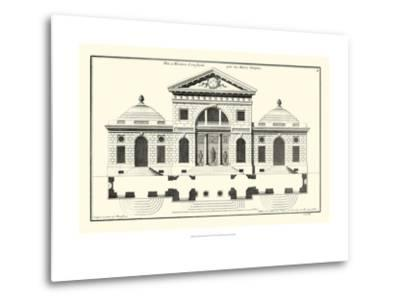 Crackle B&W Architectural Facade VI-Jean Deneufforge-Metal Print