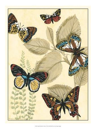 Graphic Butterflies in Nature I-Megan Meagher-Framed Art Print