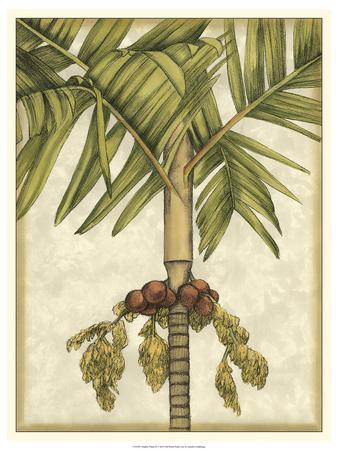 Graphic Palms II-Jennifer Goldberger-Framed Art Print