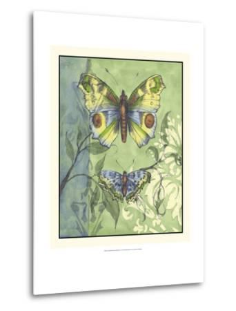 Embellished Vibrant Butterflies I-Jennifer Goldberger-Metal Print