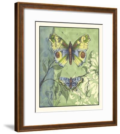 Embellished Vibrant Butterflies I-Jennifer Goldberger-Framed Art Print
