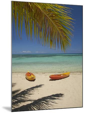 Kayaks on the Beach, Plantation Island Resort, Malolo Lailai Island, Mamanuca Islands, Fiji-David Wall-Mounted Photographic Print