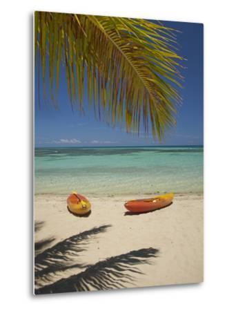 Kayaks on the Beach, Plantation Island Resort, Malolo Lailai Island, Mamanuca Islands, Fiji-David Wall-Metal Print
