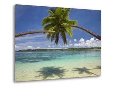 Palm Trees, Shangri-La Fijian Resort, Yanuca Island, Coral Coast, Viti Levu, Fiji, South Pacific-David Wall-Metal Print