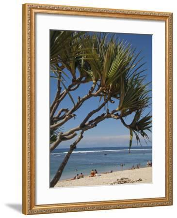 Beach, St. Pierre, Reunion Island, French Overseas Territory-Cindy Miller Hopkins-Framed Photographic Print