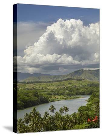 Sigatoka River, Lower Sigatoka Valley, Coral Coast, Viti Levu, Fiji, South Pacific-David Wall-Stretched Canvas Print
