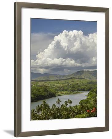 Sigatoka River, Lower Sigatoka Valley, Coral Coast, Viti Levu, Fiji, South Pacific-David Wall-Framed Photographic Print