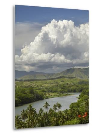Sigatoka River, Lower Sigatoka Valley, Coral Coast, Viti Levu, Fiji, South Pacific-David Wall-Metal Print