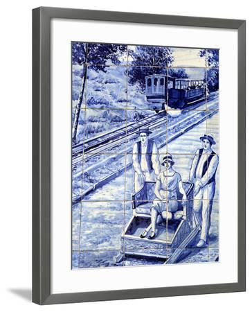 Traditional Azulejos Tiles, Funchal, Madiera, Portugal-Kymri Wilt-Framed Photographic Print