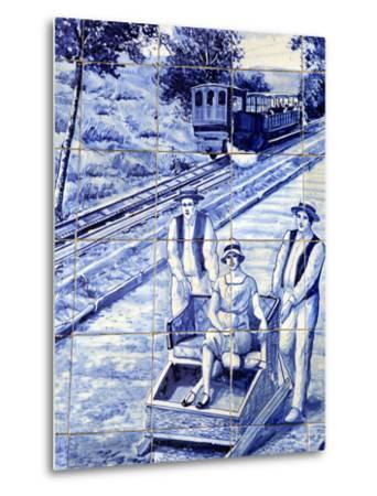 Traditional Azulejos Tiles, Funchal, Madiera, Portugal-Kymri Wilt-Metal Print