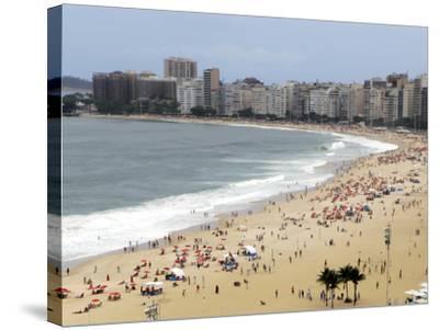 Copacabana Beach, Rio De Janiero, Brazil-Kymri Wilt-Stretched Canvas Print