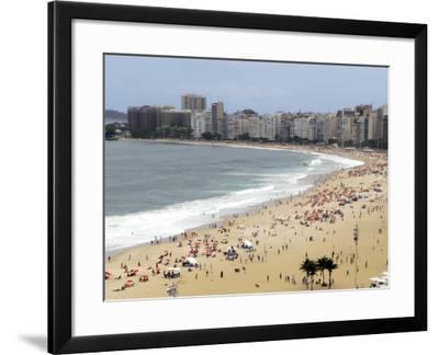 Copacabana Beach, Rio De Janiero, Brazil-Kymri Wilt-Framed Photographic Print