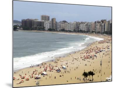 Copacabana Beach, Rio De Janiero, Brazil-Kymri Wilt-Mounted Photographic Print