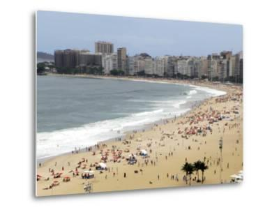 Copacabana Beach, Rio De Janiero, Brazil-Kymri Wilt-Metal Print