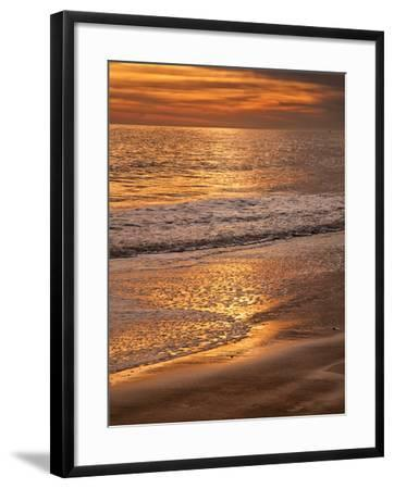 Sunset Reflection, Cape May, New Jersey, USA-Jay O'brien-Framed Photographic Print