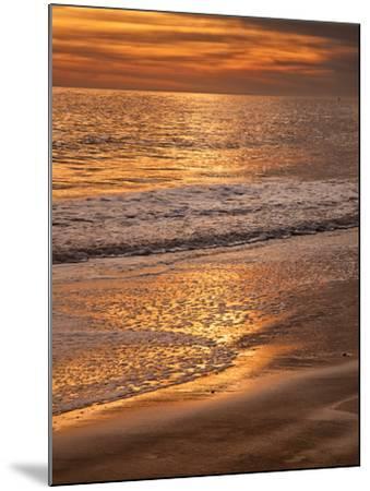 Sunset Reflection, Cape May, New Jersey, USA-Jay O'brien-Mounted Photographic Print