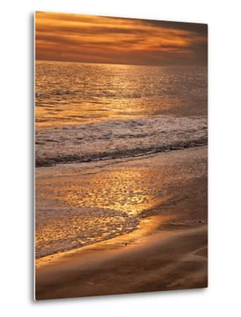 Sunset Reflection, Cape May, New Jersey, USA-Jay O'brien-Metal Print