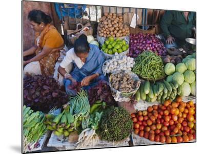 Selling Fruit in Local Market, Goa, India-Keren Su-Mounted Photographic Print