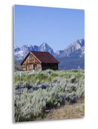 Old Barn, Sawtooth National Recreation Area, Idaho, USA-Jamie & Judy Wild-Metal Print