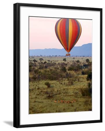 Hot-Air Ballooning, Masai Mara Game Reserve, Kenya-Kymri Wilt-Framed Photographic Print