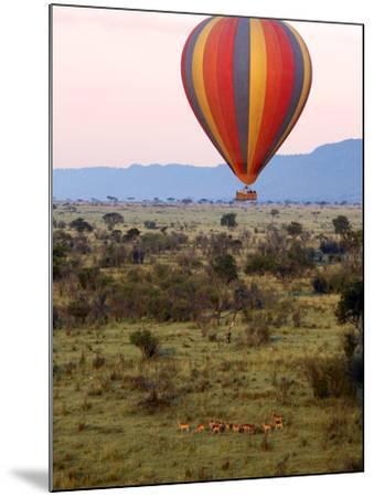 Hot-Air Ballooning, Masai Mara Game Reserve, Kenya-Kymri Wilt-Mounted Photographic Print