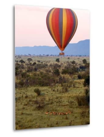 Hot-Air Ballooning, Masai Mara Game Reserve, Kenya-Kymri Wilt-Metal Print